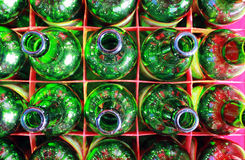 Beer Bottles of Green Glass. Stock Image