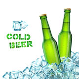 Beer Bottles And Ice Royalty Free Stock Images