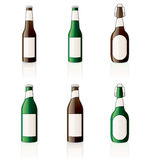 Beer bottles Icons Set. Design Royalty Free Stock Image
