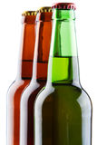Beer bottles isolated on white background Stock Images