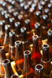 Beer bottles recycling. Brown glass Beer bottles recycling Royalty Free Stock Photo