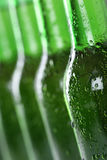 Beer bottles in a row Royalty Free Stock Photography