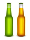 Beer bottles set Royalty Free Stock Photos