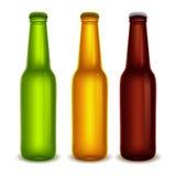 Beer bottles set Stock Photo