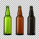 Beer bottles set. Stock Photography