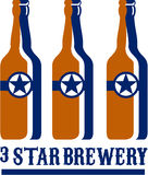 Beer Bottles Star Brewery Retro Stock Image