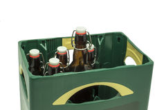 Beer box. With beer bottles Royalty Free Stock Photography