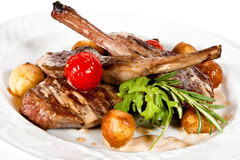 Beer braised lamb ribs Royalty Free Stock Photo