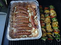 Beer Brats and BBQ Stock Photography