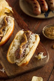 Beer Bratwurst with Sauerkraut Royalty Free Stock Photo