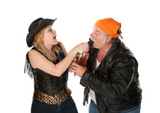 Beer brawl Royalty Free Stock Photography