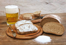 Beer and bread 1 Royalty Free Stock Photos