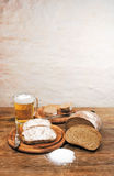 Beer and bread 2 Royalty Free Stock Images