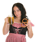 Beer and bretsel Stock Images