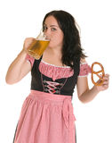Beer and bretsel Stock Photography