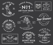 Beer Brewers White on Black Royalty Free Stock Images