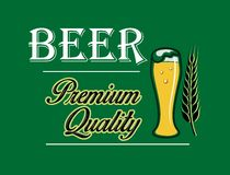 Beer and brewery emblem Stock Photos