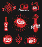 Beer brewery emblems Royalty Free Stock Images