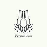 Beer brewery emblems Stock Photography
