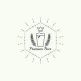Beer brewery emblems Stock Photos