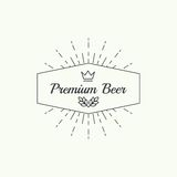 Beer brewery emblems Royalty Free Stock Photography