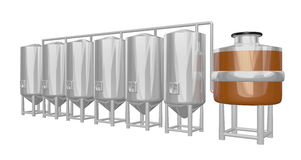 Beer brewery system Royalty Free Stock Photography
