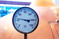 Free Beer Brewery Thermometer Royalty Free Stock Photo - 197226585