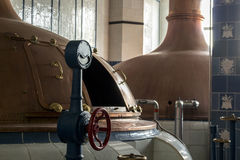 Beer brewery. Traditional way of making a beer. Stock Photos