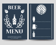 Beer brochure flyer template. Beer menu vector design A5 Royalty Free Stock Photo
