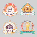 Beer bub bar label design logo Stock Photography