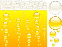 Beer and bubbles. Stock Photography
