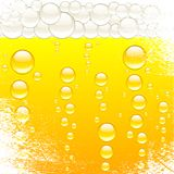 Beer and bubbles. Royalty Free Stock Image