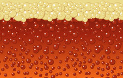 Beer bubbles background Royalty Free Stock Image
