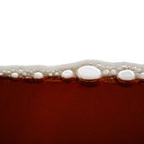 Beer bubbles in the high magnification Royalty Free Stock Image