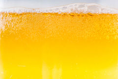 Beer bubbles in the high magnification and close-up. Stock Photography