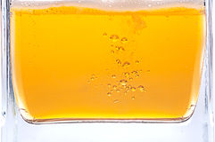 Beer bubbles. Lots of golden beer bubbles Royalty Free Stock Photography