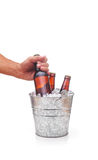 Beer Bucket With Hand Royalty Free Stock Photography
