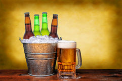 Beer Bucket and Mug Stock Photos