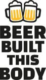 Beer built this body with beer mugs. Vector vector illustration