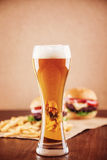 Beer and a Burger Royalty Free Stock Images