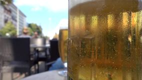 Beer in a Cafe Outdoor Concept. Video stock footage