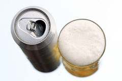 Beer And Can Royalty Free Stock Image