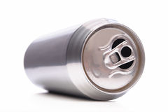 Beer can. Laying empty aluminum beer can isolated on white background Stock Images