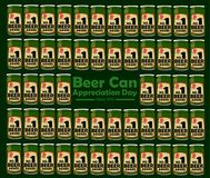 Beer Can Appreciation day. To remind the first day ever that a can of beer are sold. EPS10 File available Royalty Free Stock Photo