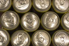 Beer can background Stock Image