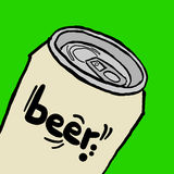 Beer can Royalty Free Stock Photos