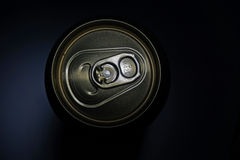 Beer can. Can of beer on a dark background Stock Photography