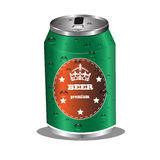 Beer can design Stock Photography