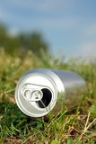 Beer can in the grass Stock Photography