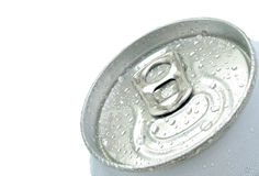 Beer can from the top Stock Photos